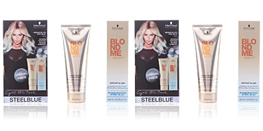 Schwarzkopf BLONDEME INSTANT BLUSH STEELBLUE SET 2 pz